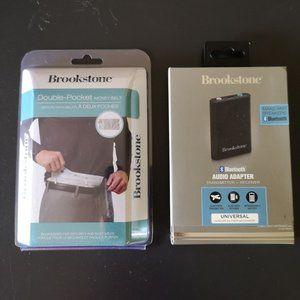 Brookstone Travel Set Audio Adapter + Money Belt
